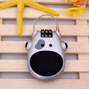 Travel luggage lock bike locks cow retractable cable bicycle lock steel cable 3-digit combination lock suitcase lock