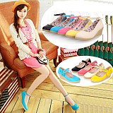 taobao english 2013 spring new shoes bow buckle wedge heel Women's high-heeled shoes Korean princess shoes student shoes tide