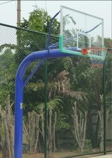 Оборудование для баскетбольной площадки Подземное метро одной руке баскетбол стоять с закаленного стекла баскетбол Совет