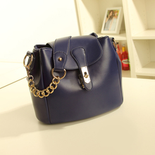 2013 new wave of female Korean retro fashion chain bucket bag lady handbag bag shoulder diagonal wave packet