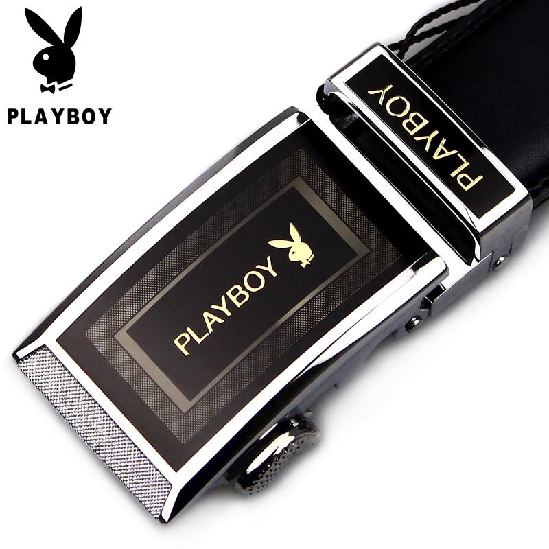 Ремень Playboy pdf0576/11 Мужчины Кожа быка Повседневный стиль Без декора Автоматические пряжки