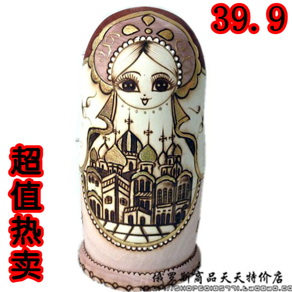 matryoshka net imports of high-end gift gift set of baby toys 7 layer 【building sets her