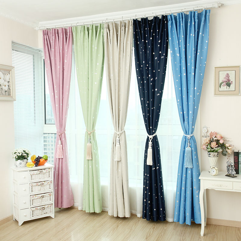 Good English pastoral finished curtains shading curtains shading cloth living room thickening high-grade sunshade cloth brigor