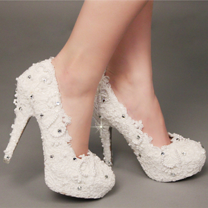 2013 new glass slipper shoes wedding shoes bridal shoes white pearl lace shoes bridal shoes wedding shoes diamond shoes