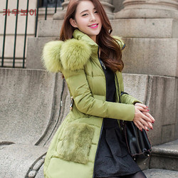 Sunflower luxurious fur collar slim Down