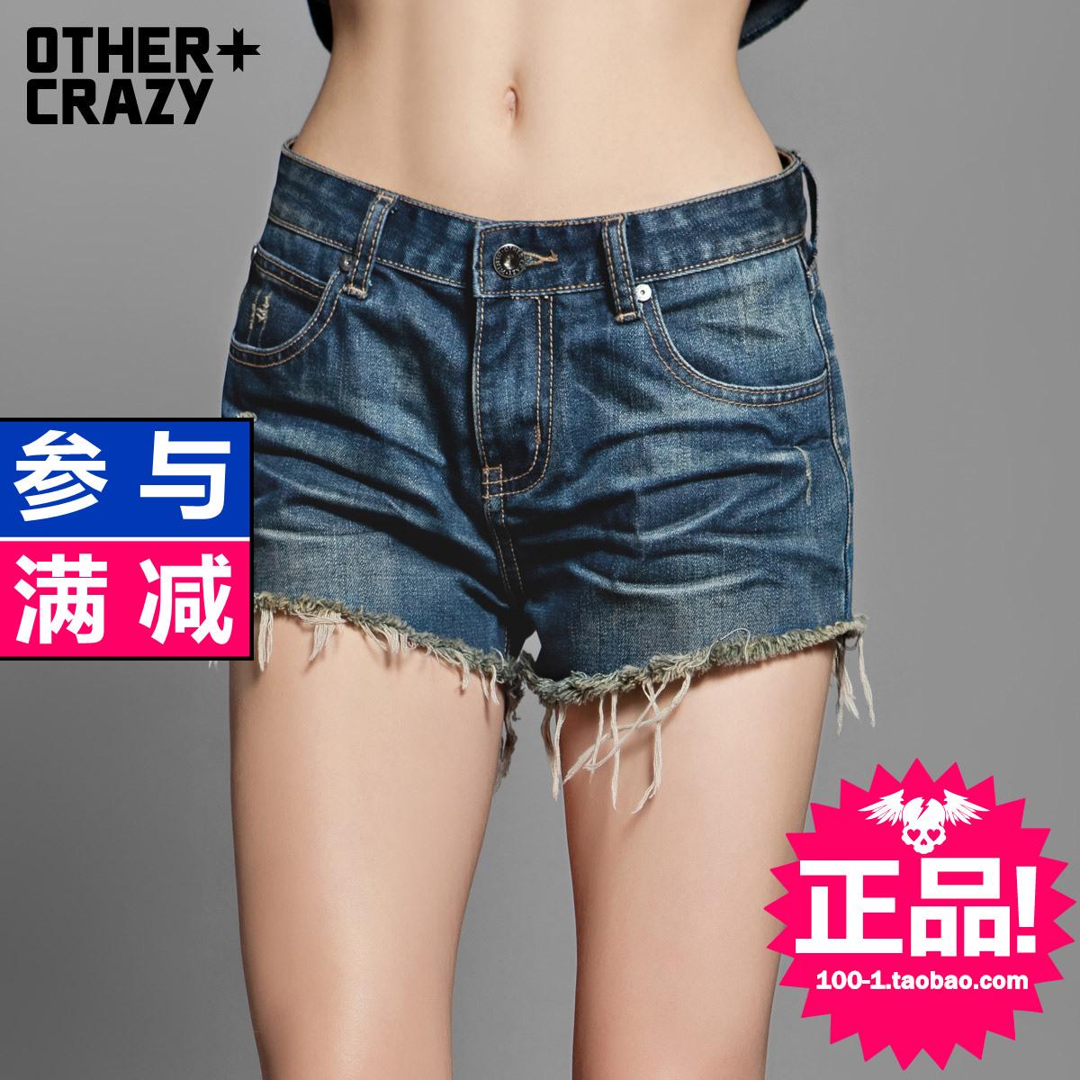 Женские брюки Othercrazy 25f1203 Шорты, мини-шорты Другая форма брюк Городской стиль 2013 года Разное Окрашено под старину