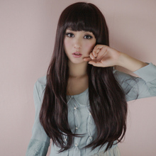 The new wig long volume fluffy big wavy curly hair The girl is dumb light natural hair wigs Japanese