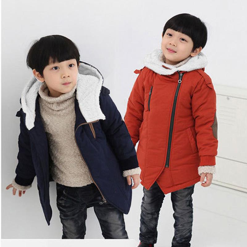 男童棉衣女童棉袄 斜拉链外套冬装童装韩版加绒款 童装