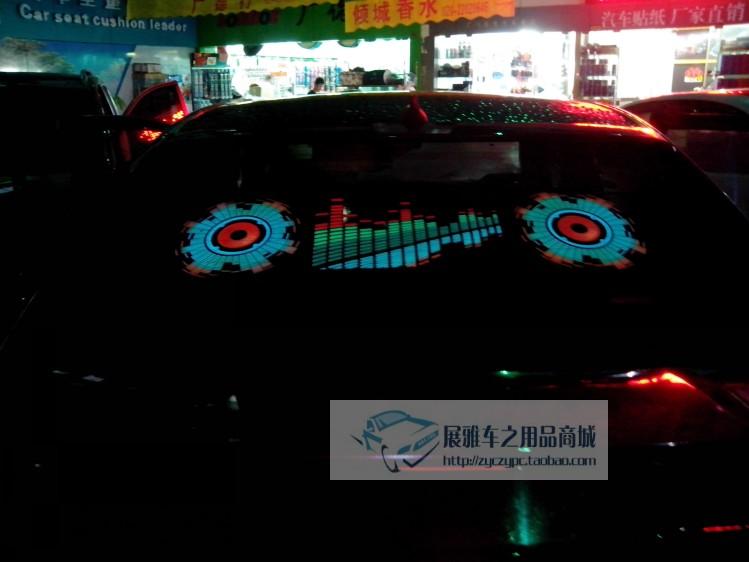 тюнинг фар Пакеты почты декоративные лампы звуковой индикатор свет авто ритм огни аудио голосового холодный свет