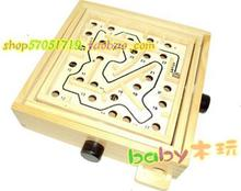 Adult recreational toys Longan wood play Maze game Handheld maze A wooden labyrinth Steel ball maze