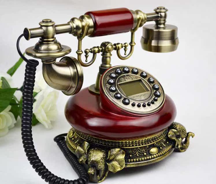 特价欧式仿古电话机实木有绳座机复古创意时尚带来电显示家居装修
