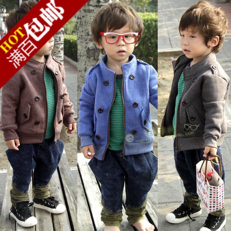 Пальто детское Other 4947 90-130 Для молодых мужчин Весна-осень Флис Хлопок Для отдыха