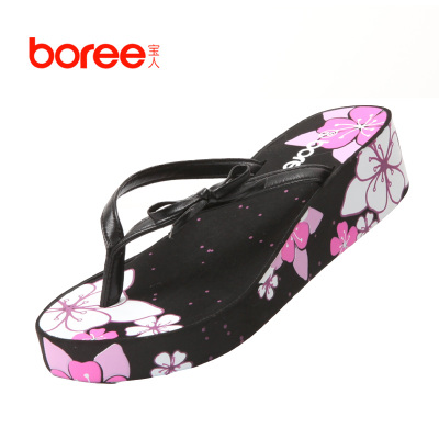 2012 genuine treasure thick crust slope with non-slip slippers summer sandals sandals women's shoes, sandals and slippers muffin