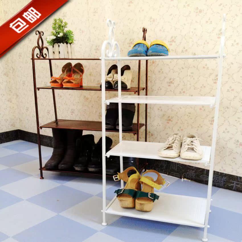 Полка для обуви Специальные пакеты почта стиль коваными четыре 6 этажный пола до потолка обуви стойку многослойных тапочка стойки дисплей стойки