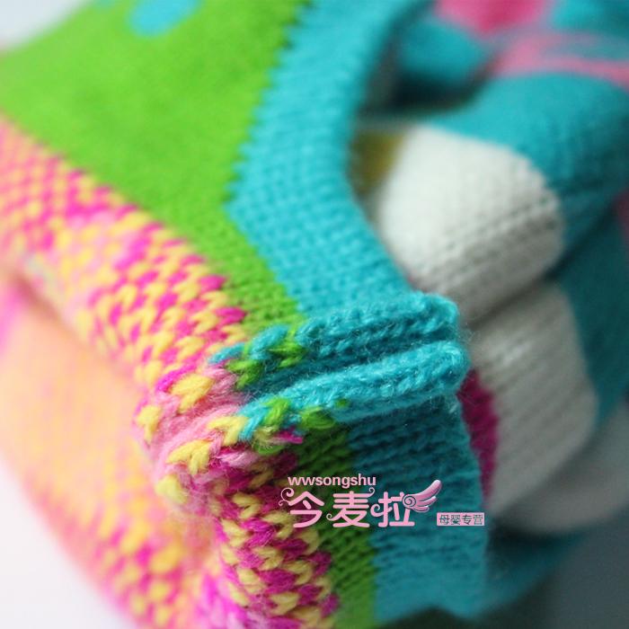 Комплект из двух частей Супер группа Цена Корейский двойные цветные конфеты детей Hat младенца кролика шлем Hat шерсти Cap