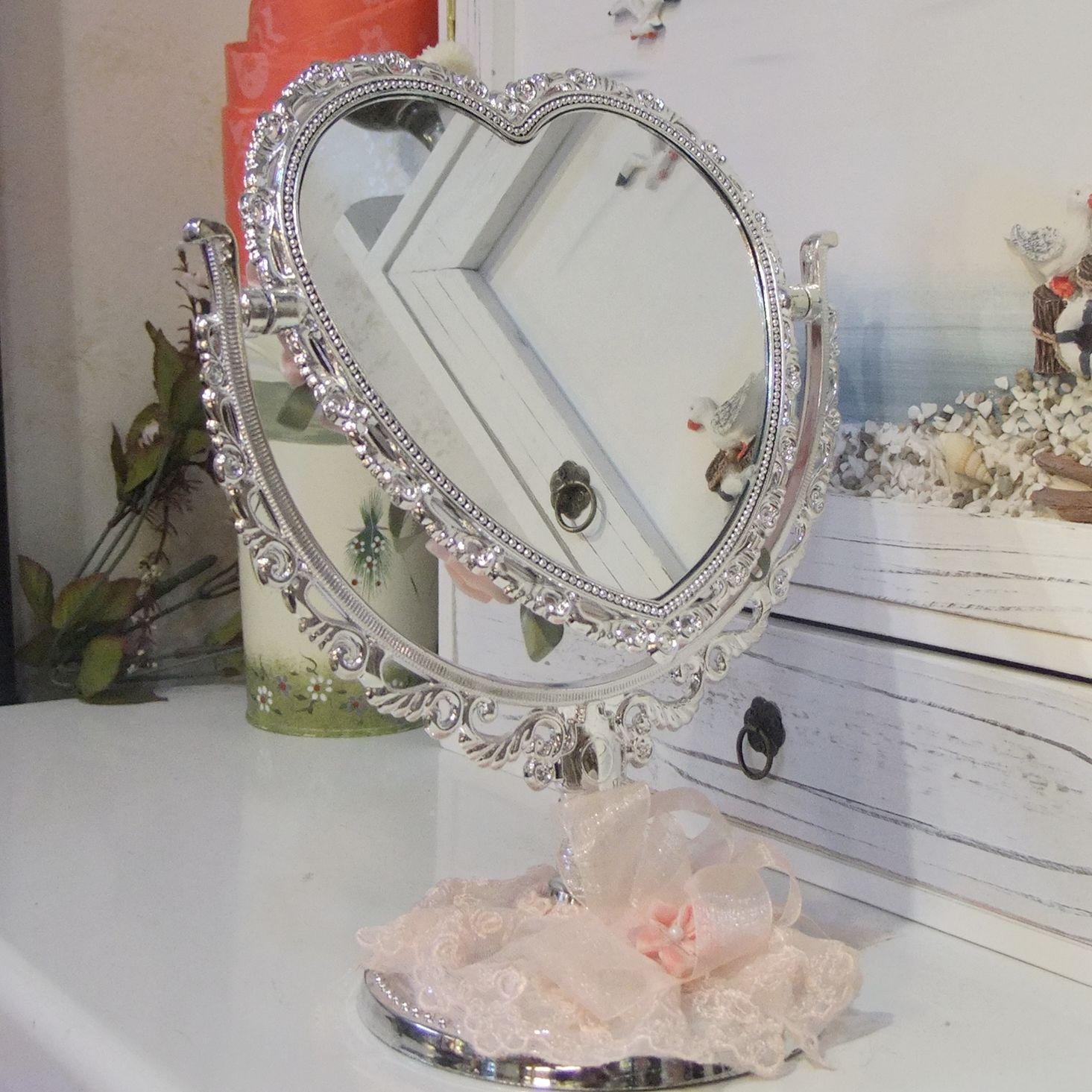 Зеркало настольное Красивые сестры «показать» зеркало свадебный подарок ~ кролик счастливая пара ~ сердце образный круглое зеркало в форме яйца