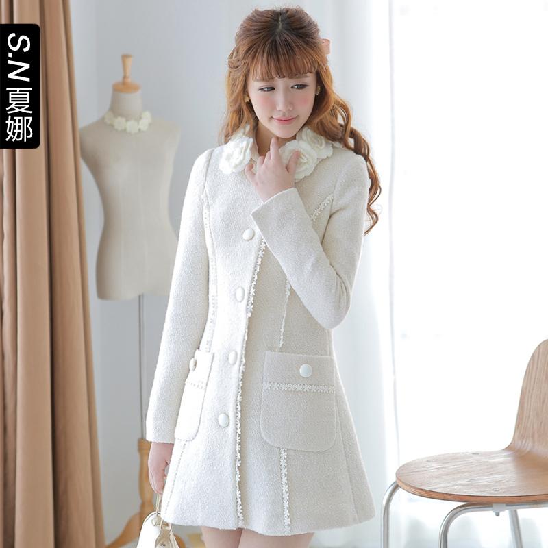 женское пальто Shinena 0677 2013 Осень 2013 Средней длины (65 см <длины одежды ≤ 80 см) Shinena Длинный рукав Классический рукав