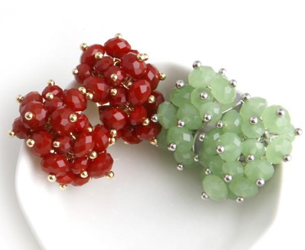 韩国代购个性糖果色甜美优雅气质时尚女式耳钉耳饰2013潮款女耳钉