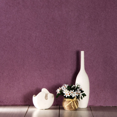High-grade PVC waterproof silk purple wallpaper minimalist plain solid color brushed hotels engineering wallpaper