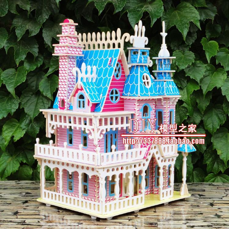 Пазл Дерево мечты Дом 3D цвет деревянных зданий трех мерной головоломки детей Взрослый модель