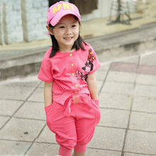 [Special] vip girls summer 2013 Korean version children's clothing children clothes girl summer short sleeve sports suit