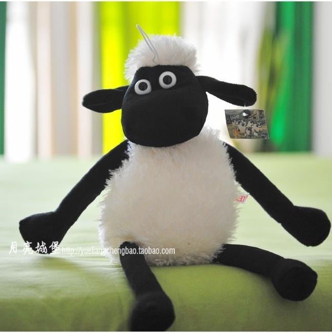 时尚个性英国动画小羊肖恩笑笑羊黑脸白羊公仔
