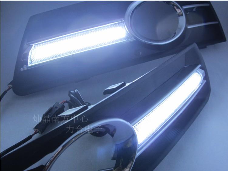 лампа Специальные светодиодные дневные огни вождение Volkswagen CC туман легкие модификации привели дневного света преобразования