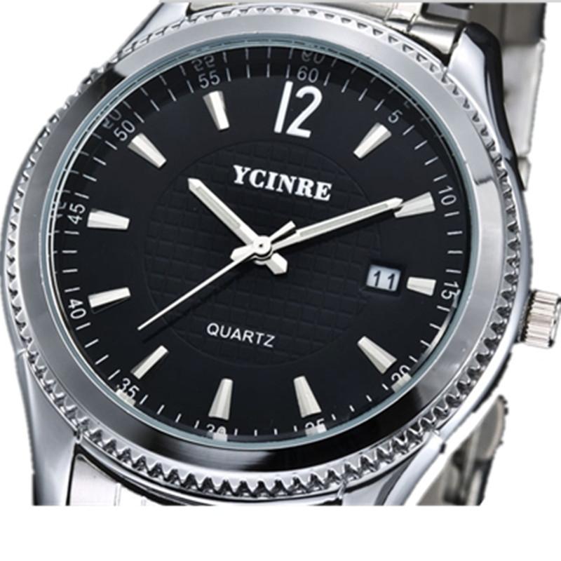 YCINRE-沁蕾正品自动进口石英表日历表男表防水手表