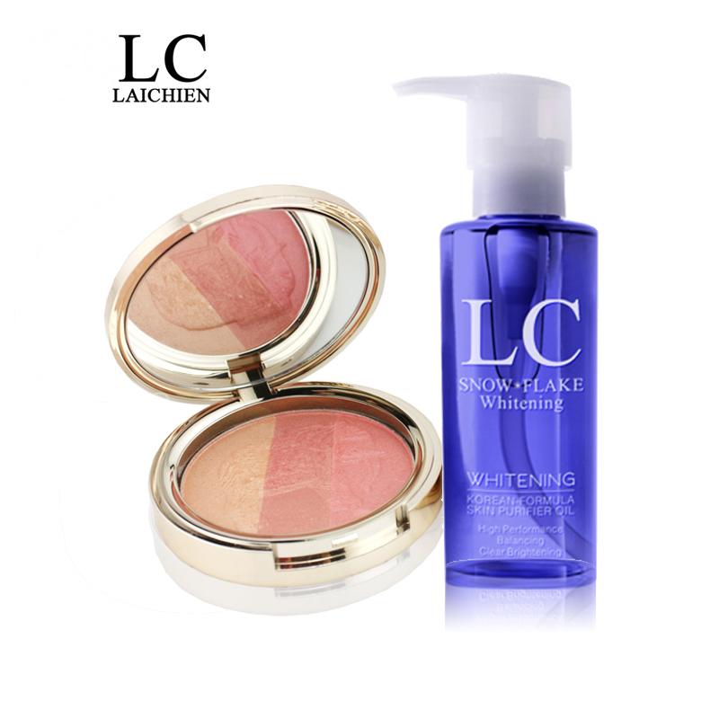 【限量100套】LC莱倩花漾彩粉+雪花洁颜油 彩妆套装 打造立体妆容
