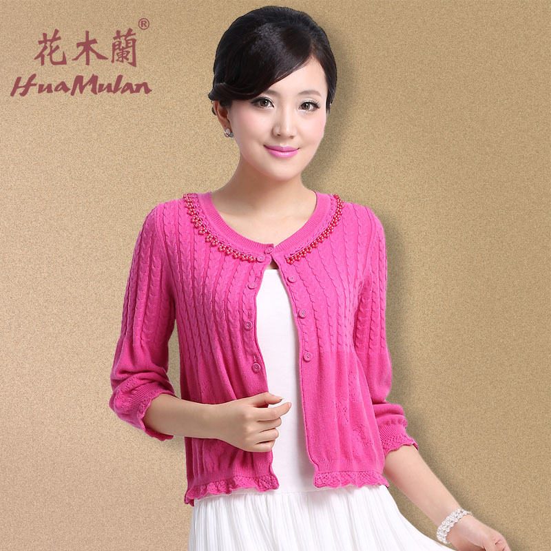 Hua Mulan 2013 new spring Cardigan Sweaters women's Cardigan Sweater short Korean coat loose 455