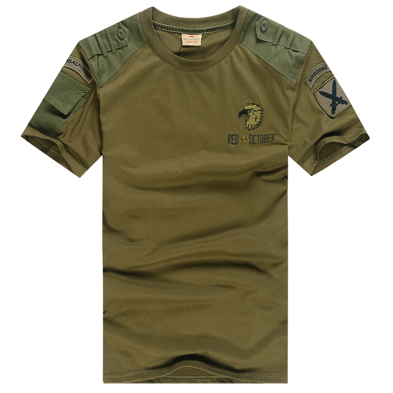 Outdoor leisure mountain t shirts Camo army fans climbing clothing 101 Airborne Division, pure cotton short sleeve t-shirts two Pack email