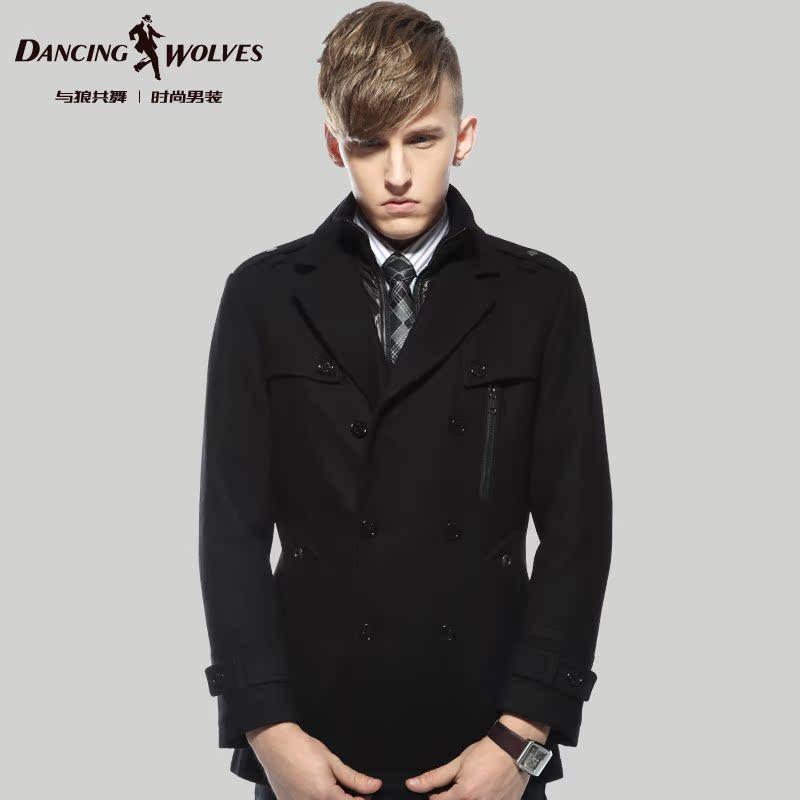 Пальто мужское D/wolves Y8995 Двухслойный воротник