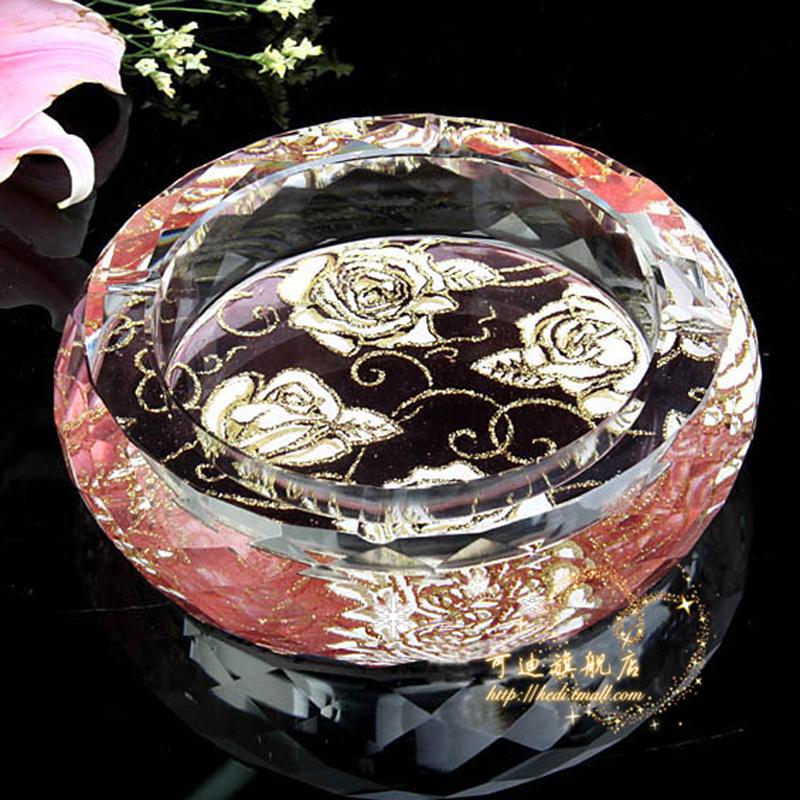 可迪 高档水晶烟灰缸水晶烟缸客厅精品欧式特价大号时尚创意实用