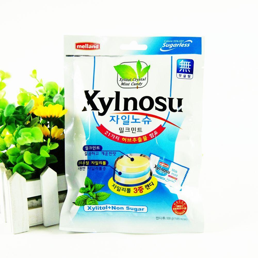 限区包邮韩国糖果喜糖木糖醇润喉糖国际无糖三合一奶油薄荷糖68g