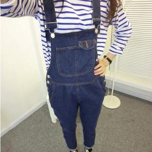 Джинсы женские Джинсовый комбинезон женский корейский прилив 2014 весной новый большой размер брюки кусок брюки комбинезон брюки корейской версии