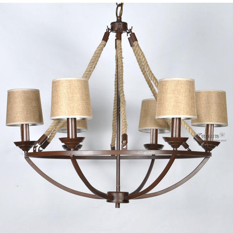 美式乡村宜家吊灯 地中海装修法式创意田园风格西餐厅灯具 促销