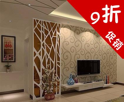 树程 密度板镂空木雕花中欧式现代电视背景通花 玄关隔断墙定制59
