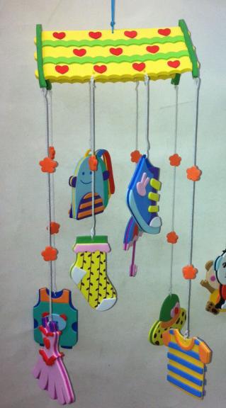 幼儿园室内外装饰春天挂饰 儿童手工制作挂件 空中吊饰 水果风铃