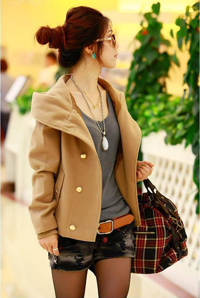 2013 winter wear new clothes for plus size short Korean Barret coat thickening trench coat woolen cloth women winter