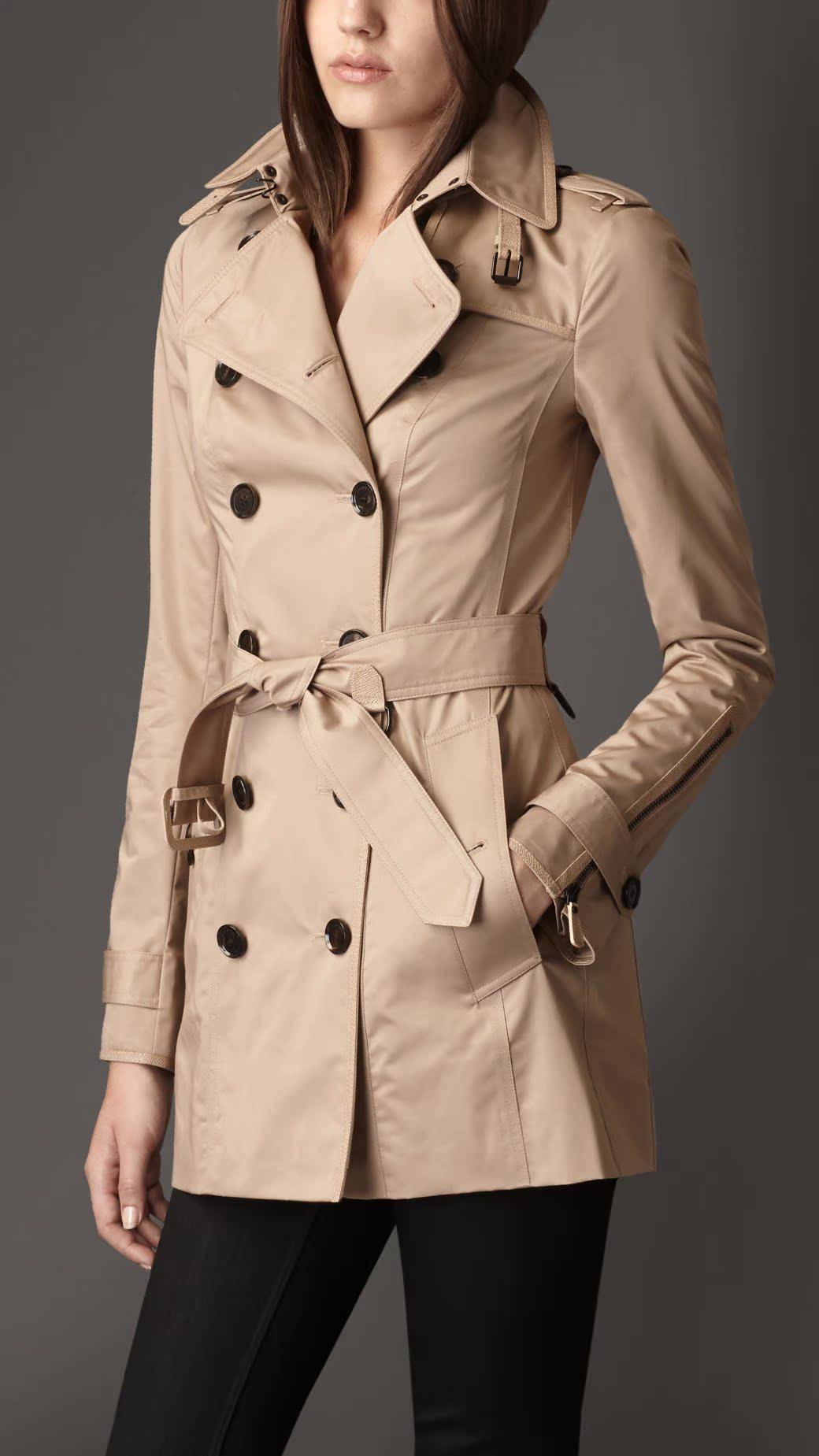 英國代購巴寶莉burberry新款正品女裝/風衣 修身型雙排扣38870741圖片