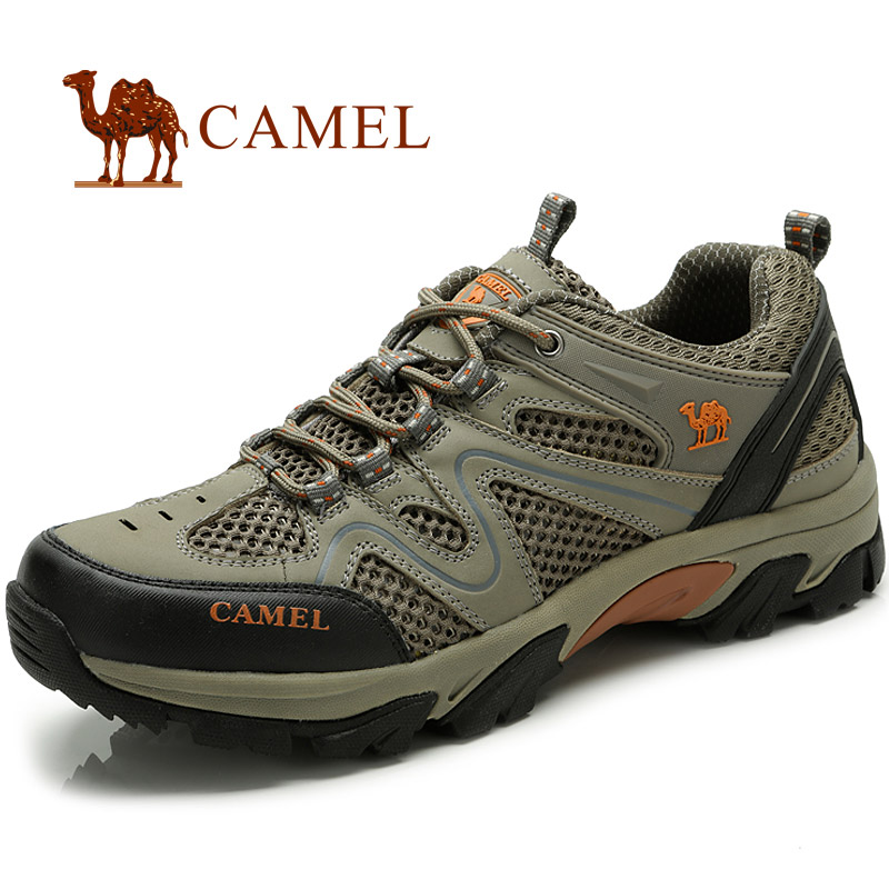 Outdoor men's summer 2013 new camel camel leather mesh breathable casual hiking mountain climbing