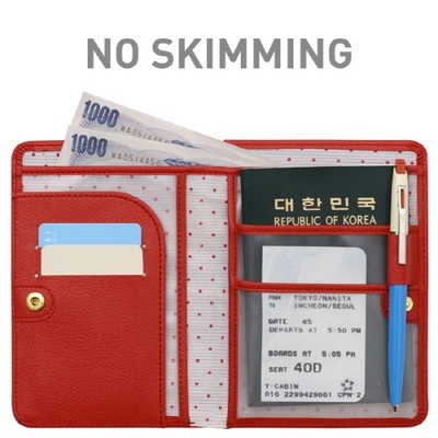 South Korea imported genuine Monopoly 3m short paragraph multifunction leather passport holder receiving tickets