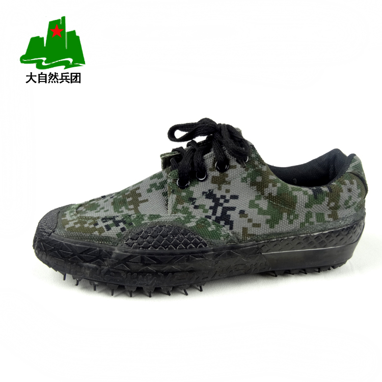 Authentic jihua 3,517 Camo 07 digital training shoes, men's hiking shoes liberation shoes canvas shoes Camo shoes
