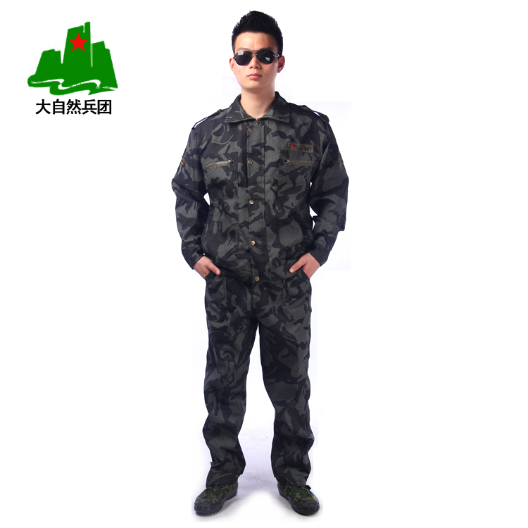 Breathable outdoor wear camouflage suits overalls camouflage suit Camo combat training for men and women clothing