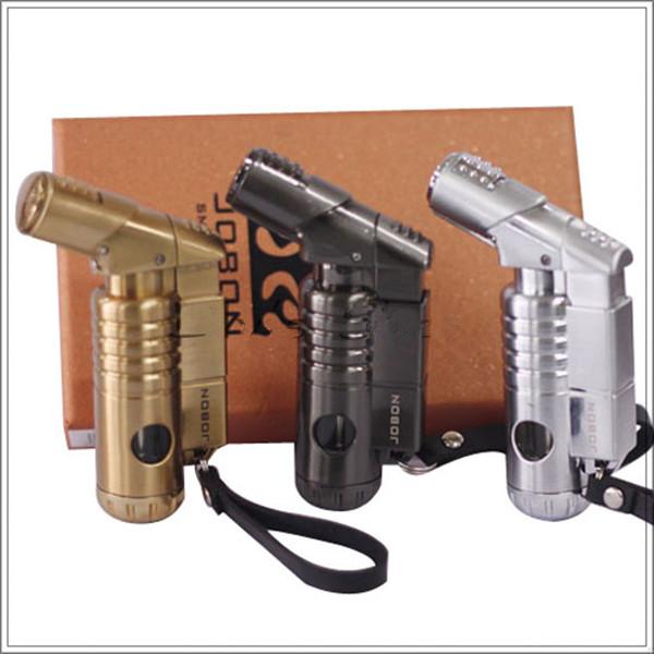 Зажигалка Jobon Легче пистолет прямо в поле дополнительный подарок светлее цвета с замком безопасности с треском локти