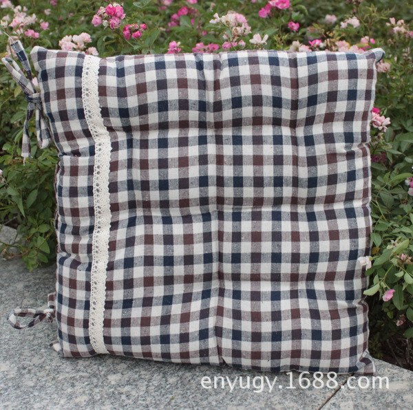 thick tartan seat pad chair pad computer seat cushion car seat cushion factory direct quilting dining seat cushion seat cushion