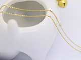 Korea 14K gold 1.15mm O word chain Europe willow chain ossicular chain Streptomyces secret spot