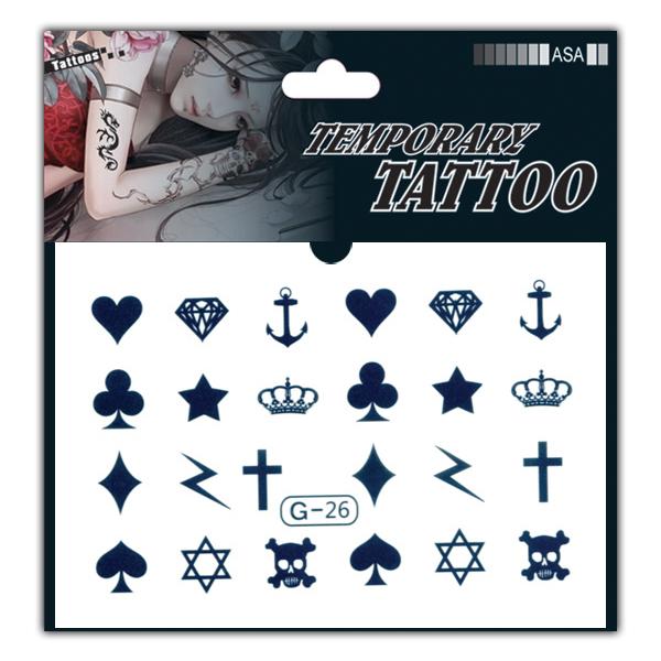 tg纹身贴 纹身贴纸 防水 女 手指小图贴纸 十字架闪电
