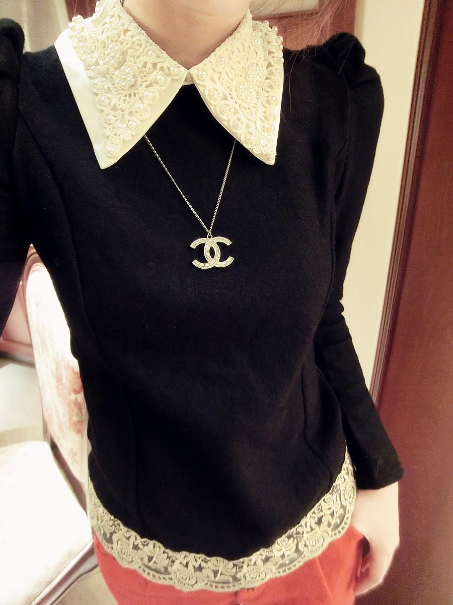 Черная Кружевная Блузка В Самаре