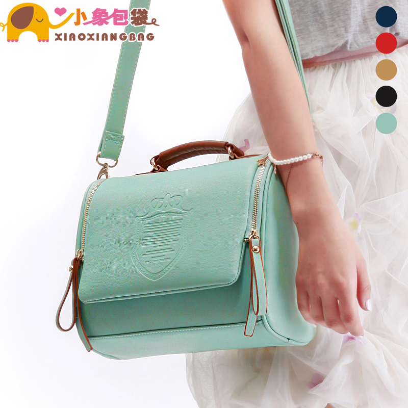 Little elephant bags 2013 new lad Korean candy color retro England tide of oblique cross-shoulder bag X1052
